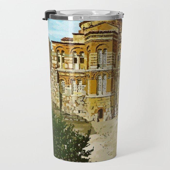 Hosios Loukas monastery Distomo Greece Travel Mug