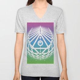 Radiant Abundance (cool gradient-white) Unisex V-Neck