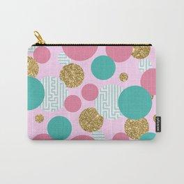 Golden Bubble Glitter Pattern Carry-All Pouch