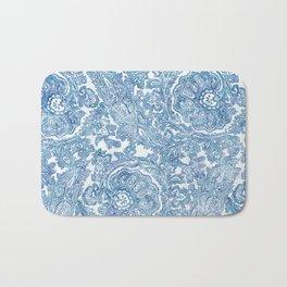 Blue Boho Paisley Pattern II Bath Mat
