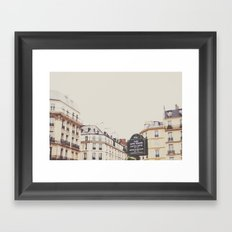 Place Sartre Beauvoir Framed Art Print