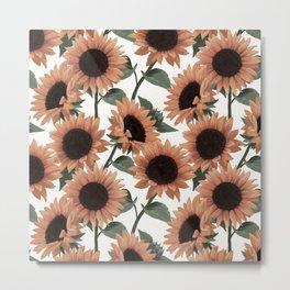 terracotta sunflowers Metal Print