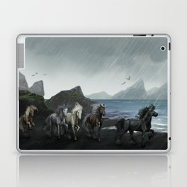 Shores of the black sand Laptop & iPad Skin