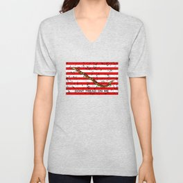 Navy Jack Flag - Dont Tread On Me Unisex V-Neck