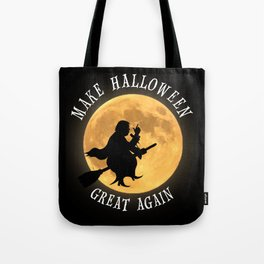 Donald Trump Halloween Moon Witches Broom T Shirt Tote Bag