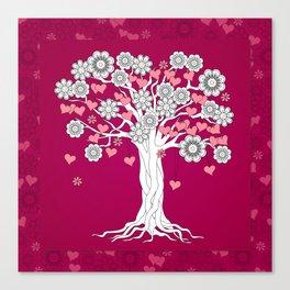 romantic tree on vinous Canvas Print