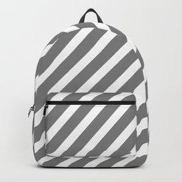 Grey Diagonal Stripes Backpack