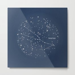 TAURUS - Astronomy Astrology Constellation Metal Print