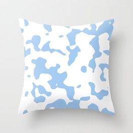Large Spots - White and Baby Blue Throw Pillow