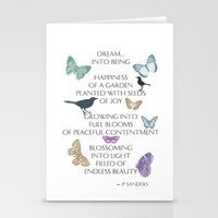 poem Stationery Cards featuring Dream Poem by Zen and Chic