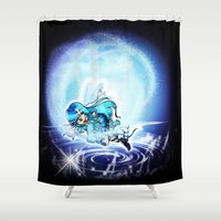 girl power Shower Curtains featuring Girl Power - Magic Rules by kittyocean