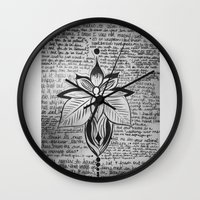 lyrics Wall Clocks featuring lyrics baby lyrics by Kaitlin Bloom