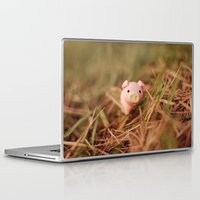 pig Laptop & iPad Skins featuring Pig by Natália Viana ♥