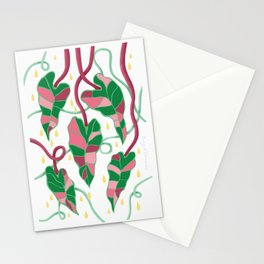 Flowing Vines Blush Pink Stationery Cards