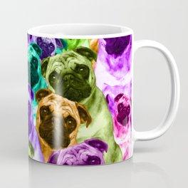 Colorful  Pug Pattern Coffee Mug
