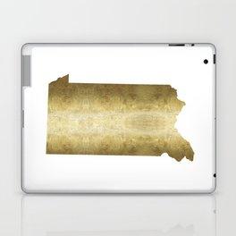 pennsylvania gold foil map Laptop & iPad Skin