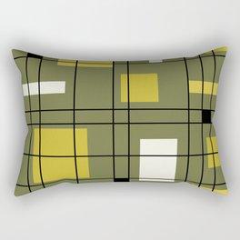 1950's Abstract Art Avocado Green Rectangular Pillow
