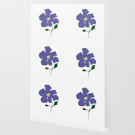 sketch of an indigo flower Wallpaper