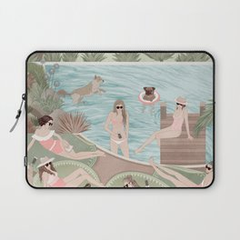 Girls by the swimming pool Laptop Sleeve