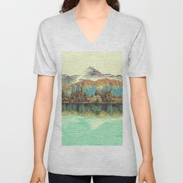 The Unknown Hills in Kamakura Unisex V-Neck
