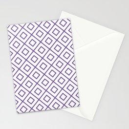 Purple Diamond Pattern 2 Stationery Cards