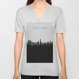 City Skylines: Umm Al Quwain Unisex V-Neck