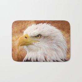 Bald Eagle Portrait Bath Mat