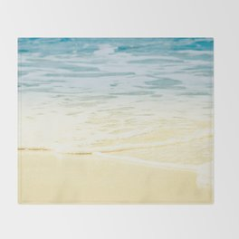 Kapalua Beach dream colours sparkling golden sand seafoam Maui Hawaii Throw Blanket