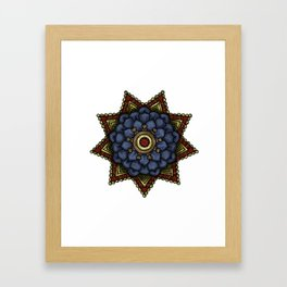nautical mandala swirl Framed Art Print