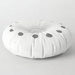 Moon Phases Light Floor Pillow