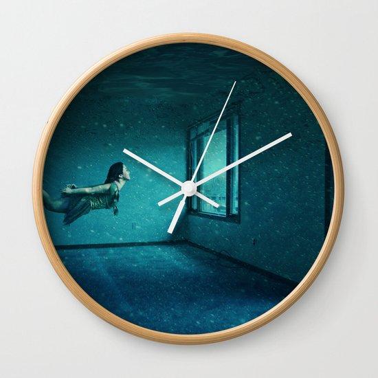 swimming girl Wall Clock