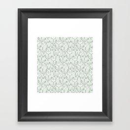 Green Cranes Framed Art Print