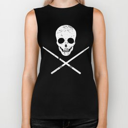 Skull And Drum Sticks | Design For Drummers Biker Tank
