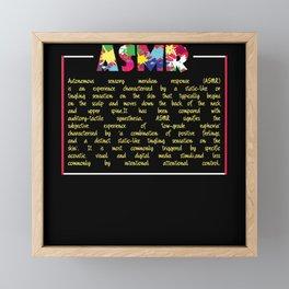ASMR Definition Framed Mini Art Print
