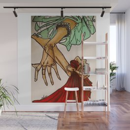 Hands (Breathe in, breathe out) Wall Mural