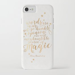 Dumbledore's Magic Words iPhone Case