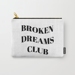 Broken Dreams Club - Black on White Carry-All Pouch
