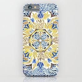 Wheat field with cornflower - mandala pattern iPhone Case