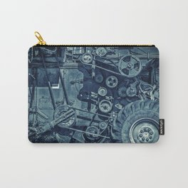 Frosted Combine Harvester Agro Art Carry-All Pouch