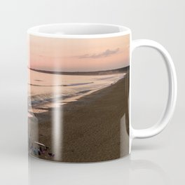 tranche sur mer france aerial drone shot sunset crew surf water Coffee Mug