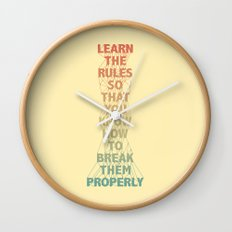 Life Lesson #5 Wall Clock