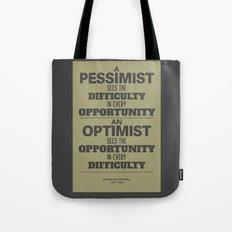 Pessimist / Optimist Tote Bag