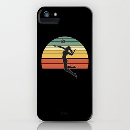 Volleyball vintage iPhone Case