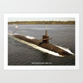USS PENNSYLVANIA (SSBN-735) Art Print
