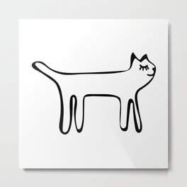 Cute Happy Cat  Metal Print