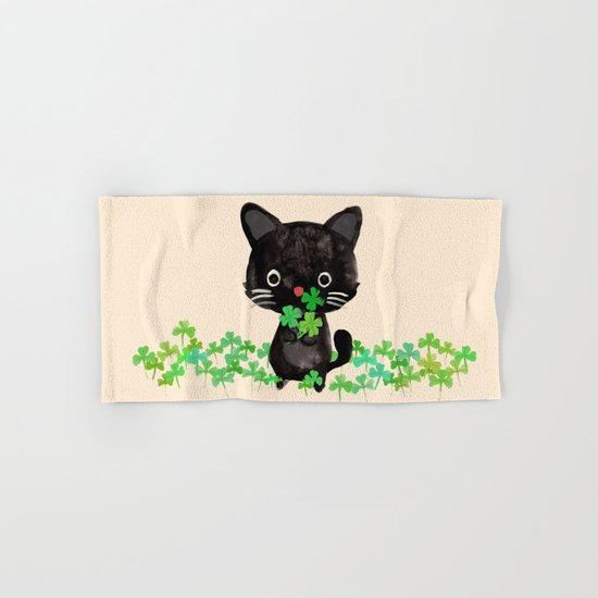 The Luckiest Cat Hand & Bath Towel