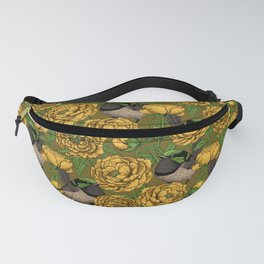 Peonies and wrens Fanny Pack