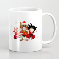 dbz Mugs featuring Ugly DBZ Christmas by The Film Guy