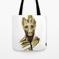 groot Tote Bags featuring Groot by Colien