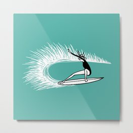 Surfer Girl Turn Metal Print